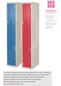 Dry Area -  Z Shape Laminate Lockers
