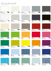 Duct Panels Colour Chart